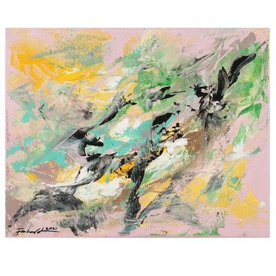 Farshad Lanjani Abstract Acrylic Painting, 2021