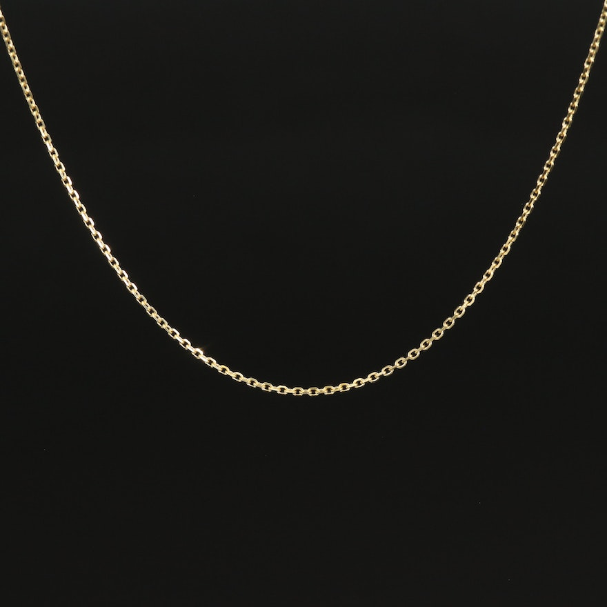 18K Cable Link Necklace
