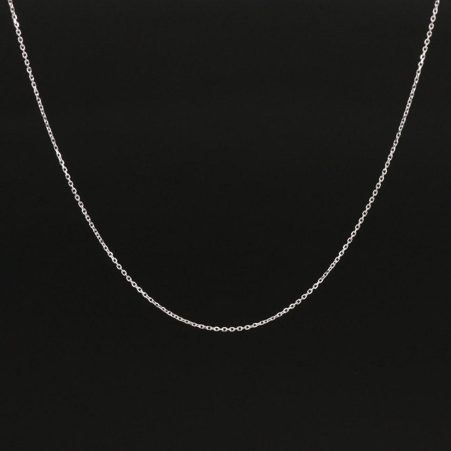 18K Adjustable Cable Chain Necklace
