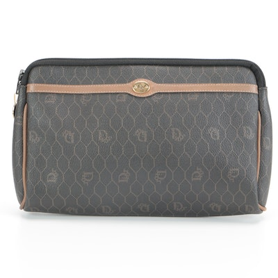 Dior Cosmetic Bag in Honeycomb Monogram Coated Canvas
