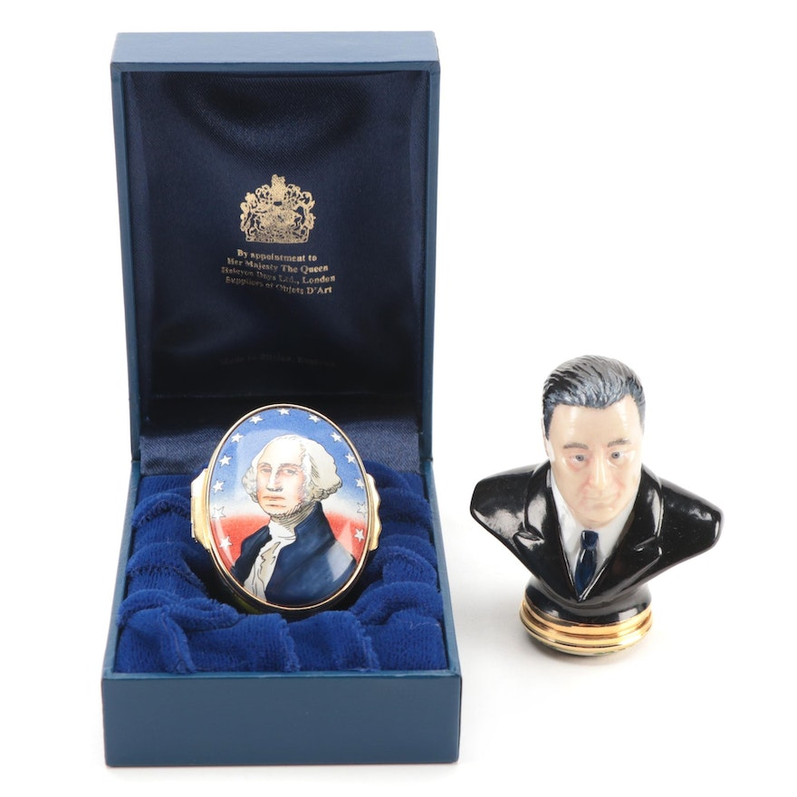 Halcyon Days and Tiffany & Co. United States Presidential Enamel Boxes