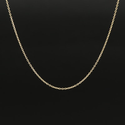 18K Cable Link Adjustable Chain