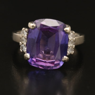 10K Sapphire and Spinel Ring