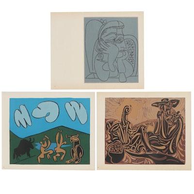 "Pablo Picasso Linoleum Cuts from ""Bacchanals, Women, Bulls & Bullfighters"""