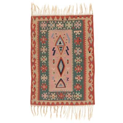 3'8 x 6'6 Handwoven Turkish Konya Kilim Area Rug