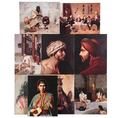 Portrait and Leisure Scene Giclées After Orientalism Paintings, 21st Century