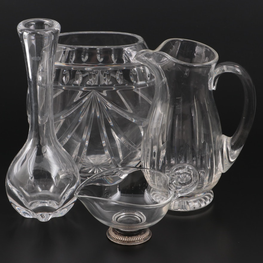"""Waterford """"Overture"""" Crystal Vase, Orrefors and Other Glass Vases and Tableware"""