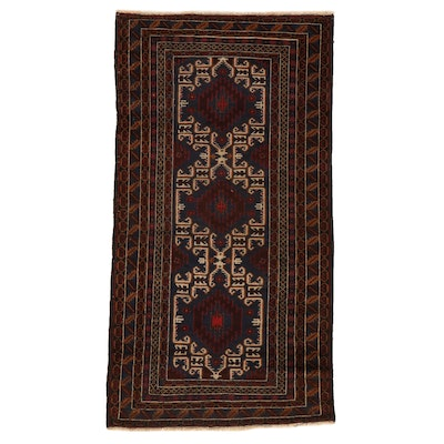 4' x 7'6 Hand-Knotted Persian Baluch Area Rug