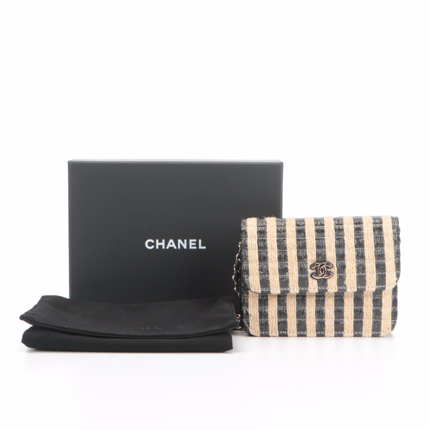 Chanel Raffia and Jute Thread Classic Chain Belt Bag