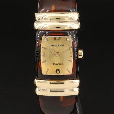 Waltham Tortoise Bangle Quartz Wristwatch