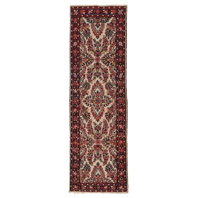 2'9 x 9' Hand-Knotted Persian Floral Carpet Runner