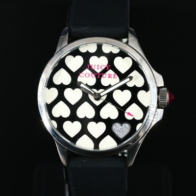 Juicy Couture Heart Motif Stainless Steel Wristwatch