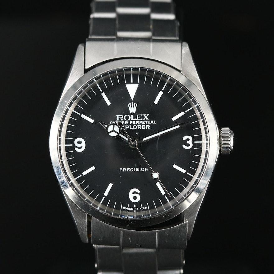 1969 Rolex Air-King Explorer 5500 Stainless Steel Wristwatch