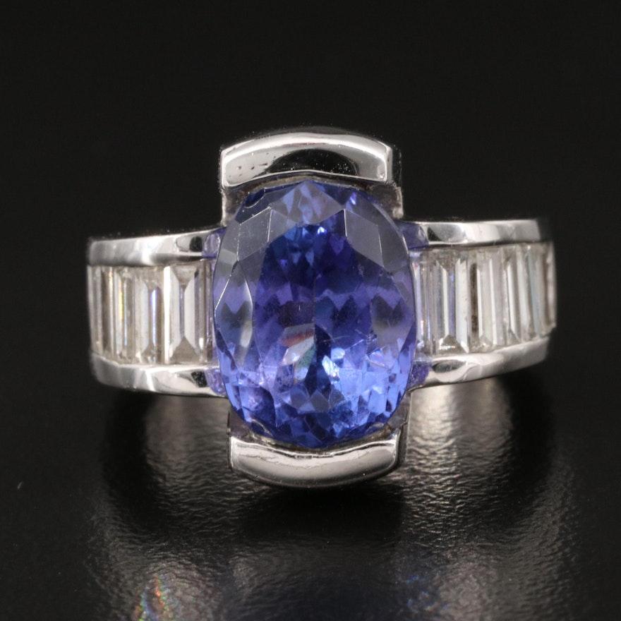 18K 6.77 CT Tanzanite and 2.25 CTW Diamond Ring