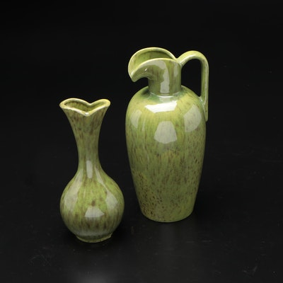 Haeger Pottery Ceramic Pitcher and Vase, Mid to Late 20th Century
