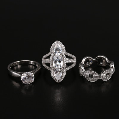 Sterling Cubic Zirconia Rings Featuring Tycoon and Vanna K