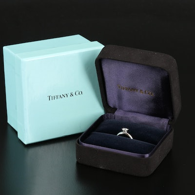 Tiffany & Co. Platinum Diamond Ring with Tiffany & Co. Certificate
