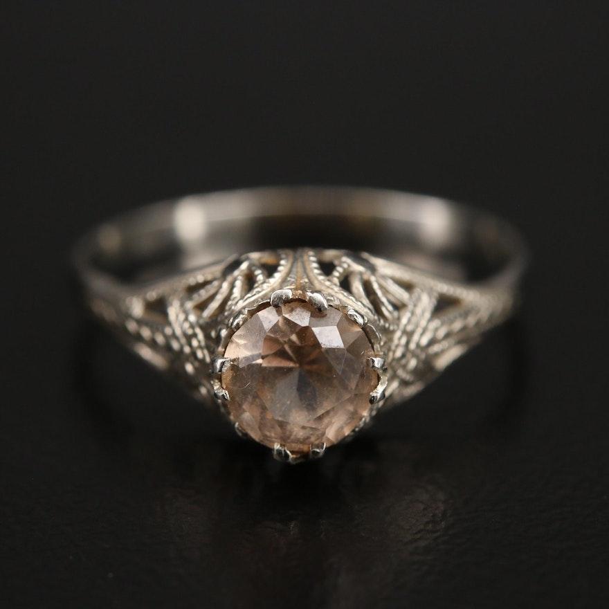 Edwardian 14K Topaz Ring
