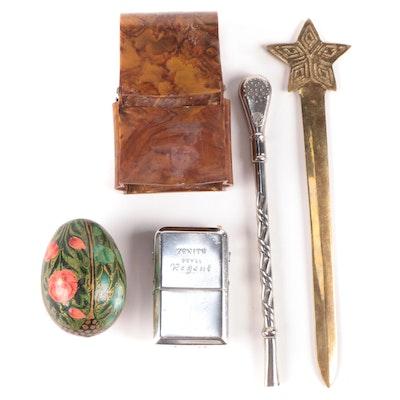 Zenith Royal Regent Hearing Aid, Bombilla Macha Straw,  Desk and Décor Items