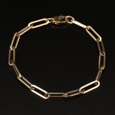 14K Paper Clip Link Bracelet
