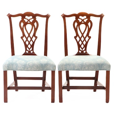 Pair of American Chippendale Mahogany Side Chairs, Attributed to Robert Harrold