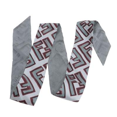 Fendi FF Logo Silk Wrappy Bandeau