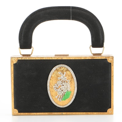 Evans Rhinestone and Gilt Metal Makeup Purse from The Sands Hotel