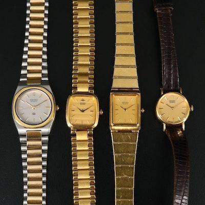 4 Seiko Quartz Wristwatches