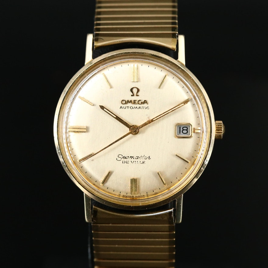 1966 Omega Seamaster DeVille 14K Gold and Stainless Steel Wristwatch