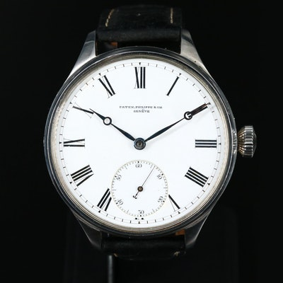 Recased Patek Philippe & Cie Geneve Movement Stainless Steel Wristwatch