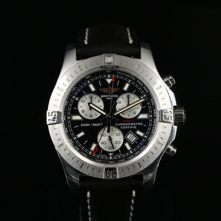 Breitling Colt Chronograph Stainless Steel Quartz Wristwatch