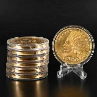 Seven Replicas of Classic U.S. Coins