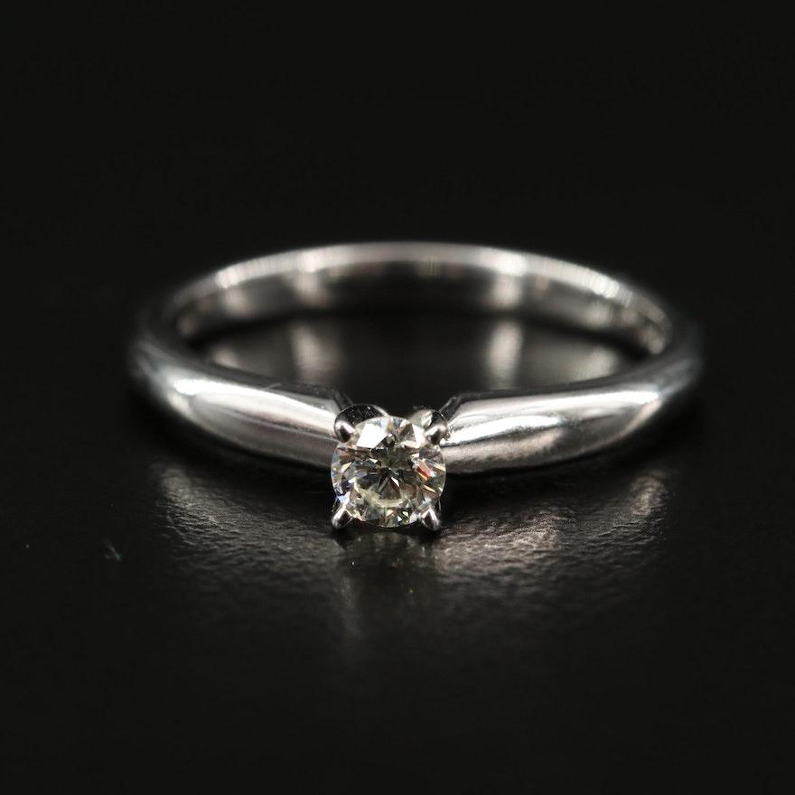 EFFY 14K 0.20 CT Diamond Solitaire Ring