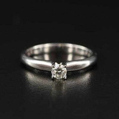 EFFY 14K 0.19 CT Diamond Solitaire Ring