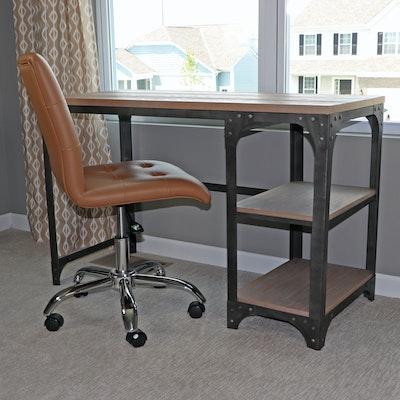 "Tianjin Qianbaiyi Furniture Co. Metal Desk with Modway ""Prim"" Desk Chair"