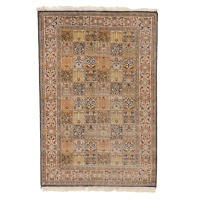 4' x 6'5 Hand-Knotted Persian Bakhtiari Area Rug