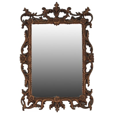 Turner Painted Composite Wood Mirror with Openwork Scrolling Foliate Design