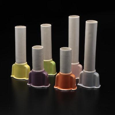 Art Deco Ceramic Pastel Vases