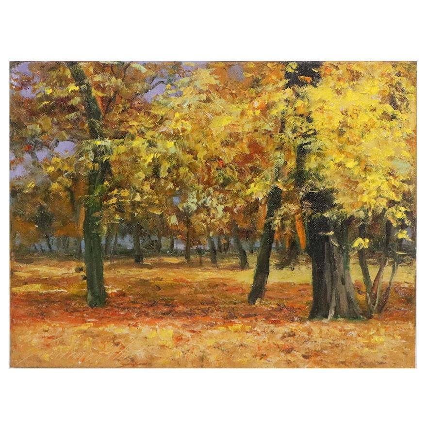 """Garncarek Aleksander Oil Painting """"Jesiennie,"""" 2021"""