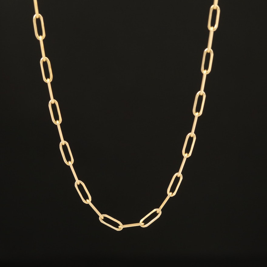 14K Oval Chain Necklace