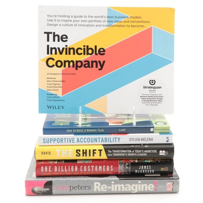 """Signed First Edition """"Re-Imagine!"""" by Tom Peters and More Nonfiction Books"""