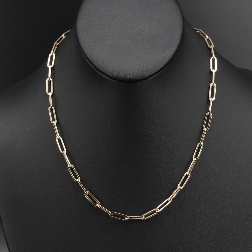 Italian 14K Paperclip Link Bracelet