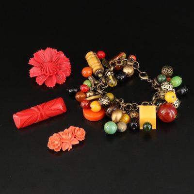Vintage Costume Jewelry Featuring Bakelite
