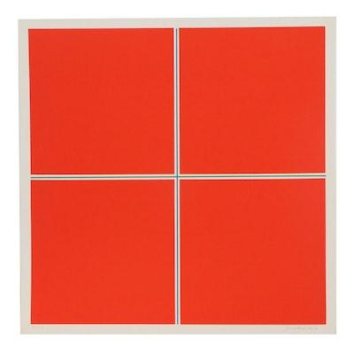 Jan Kubicek Abstract Geometric Serigraph, 1969-70