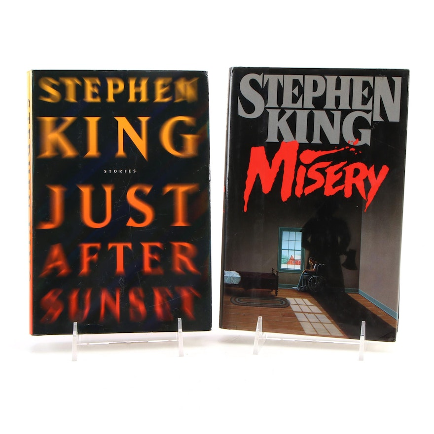 """First Edition """"Misery,"""" and """"Just After Sunset"""" by Stephen King"""