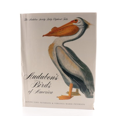 """Illustrated """"Audubon's Birds of America"""" Baby Elephant Folio by the Petersons"""