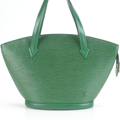 Louis Vuitton St. Jacques PM Handbag in Borneo Green Epi and Smooth Leather