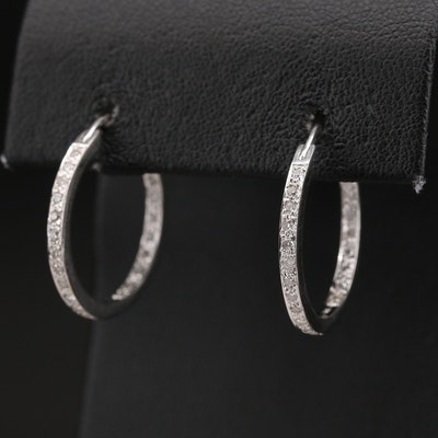 14K Diamond Inside-Out Earrings