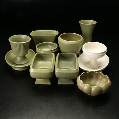 Floraline and Others Ceramic Planters, Late 20th Century