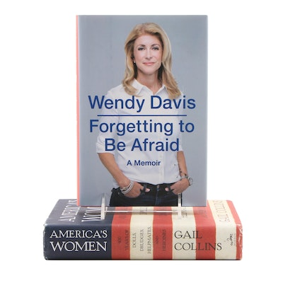 """Signed First Edition """"Forgetting to Be Afraid"""" by Wendy Davis and More"""